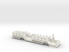 Chassis for Volvo B10m In H0 scale in White Natural Versatile Plastic