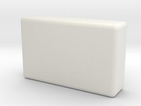 Radio casing in White Natural Versatile Plastic