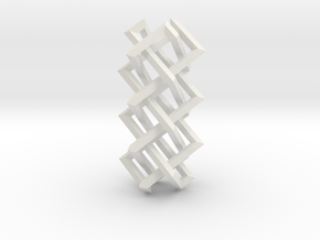 Right-angled Braidwork II (loose variant) in White Natural Versatile Plastic
