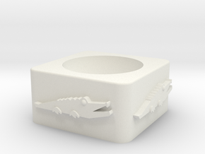 Croc Cup Shelled in White Natural Versatile Plastic