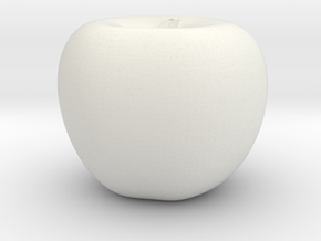 Parametric Surface Apple in White Natural Versatile Plastic