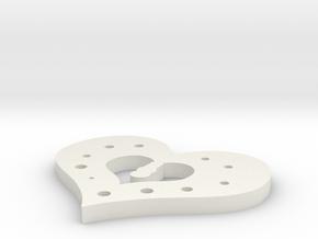 Hearth 01 in White Natural Versatile Plastic