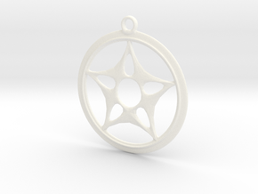 Star Design Necklace in White Strong & Flexible Polished
