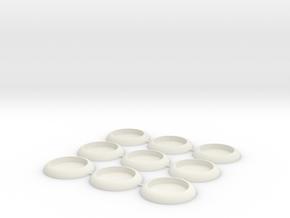 30mm Socket Base in White Natural Versatile Plastic