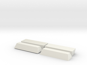 2 Coffin, TT, 1:120 in White Natural Versatile Plastic
