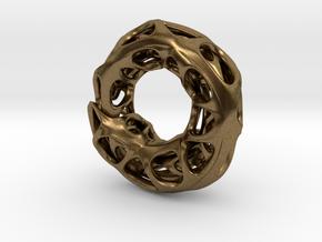 Ouroboros Pendant (S) in Natural Bronze