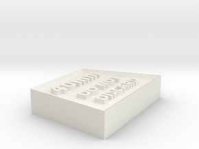 Alignment Block 40mm wide base in White Natural Versatile Plastic