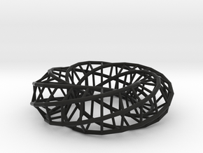 Moebius hexagon | Napkin Ring in Black Strong & Flexible