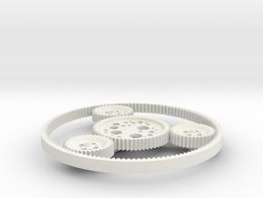 Orbit Gears in White Natural Versatile Plastic