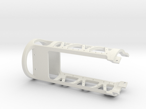 MSLED Mounting Board v4 Front Section v2 in White Strong & Flexible