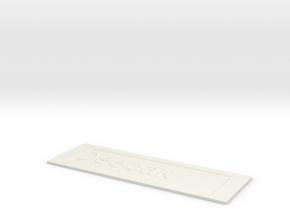 by kelecrea, engraved: Deepak  in White Strong & Flexible
