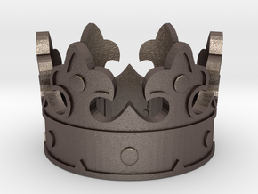 Crown Ring (various sizes) in Polished Bronzed Silver Steel