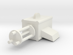 Machine Gun in White Natural Versatile Plastic