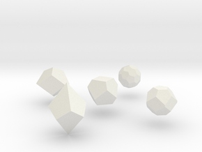 Repulsive Force Polyhedra in White Natural Versatile Plastic
