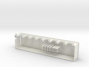 Große Panzerhalle Spur Z in White Natural Versatile Plastic