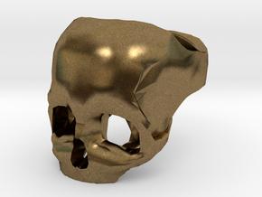 Skull Ring US 6 in Natural Bronze