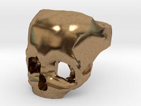 Skull Ring US 9 in Natural Brass