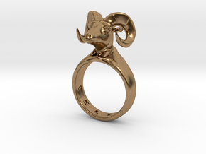 Bellyn Ring in Natural Brass