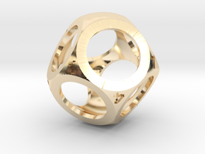 D8 Shell Dice in 14K Yellow Gold