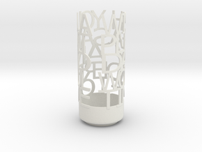 Light Poem WONDERFUL DAY in White Natural Versatile Plastic