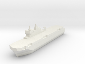 French Mistral Assault Ship 1:3000 in White Natural Versatile Plastic