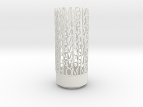 Light Poem - Om namah shivay namah Om - white poli in White Natural Versatile Plastic