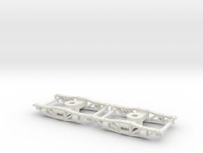 HOn30 logging archbar trucks X2 in White Strong & Flexible