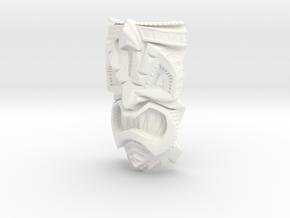 TikiheadE_30mm1 in White Processed Versatile Plastic