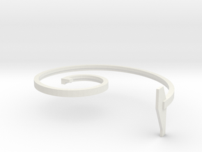 mold part, top,  vehicle spring, 2.5 mm in White Natural Versatile Plastic