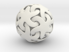 Linking Stars - 5 cm in White Natural Versatile Plastic
