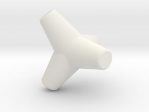 Sea Wall Tetra (Small) in White Natural Versatile Plastic