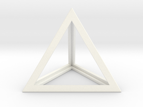Tetrahedron in White Strong & Flexible Polished