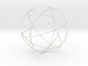 Sacred Geometry in White Natural Versatile Plastic