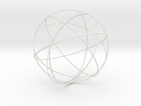 Sacred Geometry in White Natural Versatile Plastic