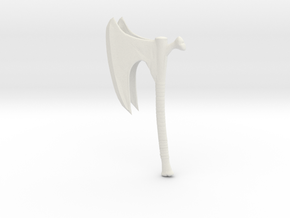 Bone Axe in White Natural Versatile Plastic
