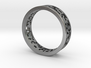 Math Ring v8 in Raw Silver