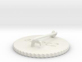 by kelecrea, engraved:  aztec2 in White Strong & Flexible