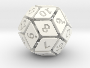 New Class of Dice - Spring-loaded 30-sided die in White Processed Versatile Plastic