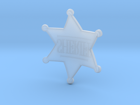 Sheriff Badge Prop in Smooth Fine Detail Plastic
