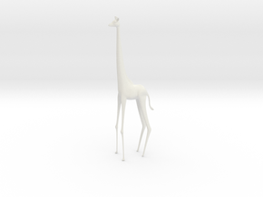 Giraffe in White Natural Versatile Plastic
