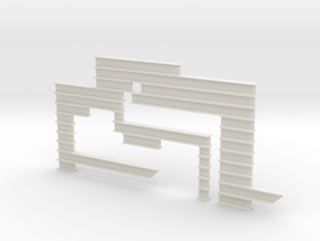 I-beam Sculpture in White Natural Versatile Plastic