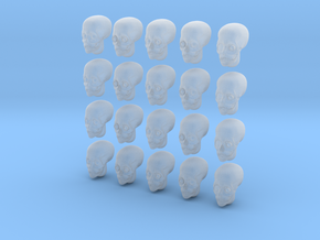 20 28mm Skull Heads Variety in Smooth Fine Detail Plastic