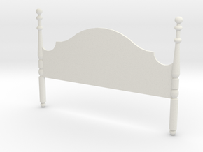 1:24 Headboard in White Natural Versatile Plastic