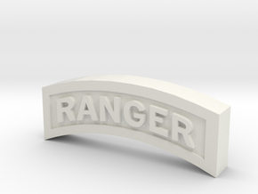 RANGER TAB in White Natural Versatile Plastic