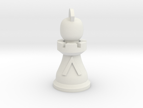 General for Spartan Chess&#153  in White Natural Versatile Plastic