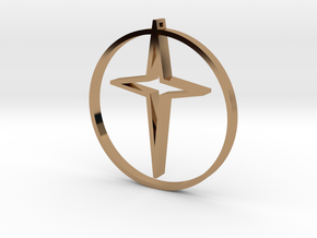 Circle of life cross 45mm in Polished Brass