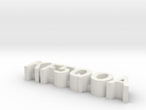 PinQOA in White Natural Versatile Plastic
