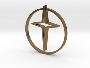 Circle of life cross 40mm in Natural Bronze