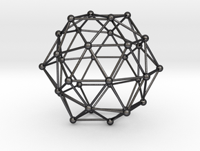 Dodecahedron in Polished and Bronzed Black Steel