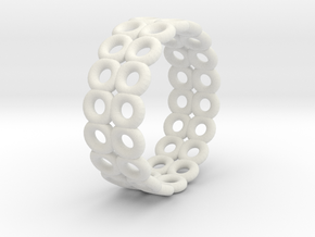 Ring N003 in White Natural Versatile Plastic
